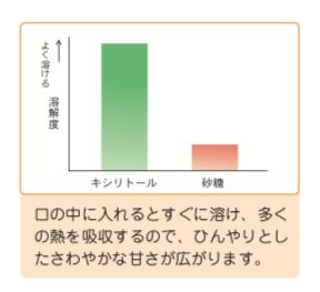 八王子レイス歯科クリニックキシリトールの溶解度のグラフ