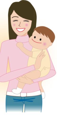 八王子レイス歯科クリニック赤ちゃんの指しゃぶりの影響のコラムお母さんに抱っこされる赤ちゃん