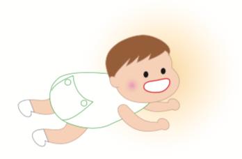 八王子レイス歯科クリニック指しゃぶりの影響コラムイメージ_はいはいする赤ちゃんのイラスト