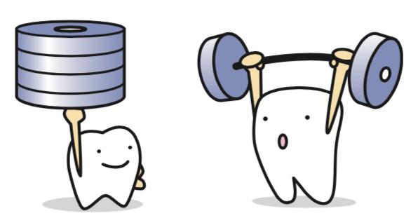 八王子レイス歯科クリニック 歯科衛生士コラム 虫歯の原因と対策 歯が強くなるイメージイラスト